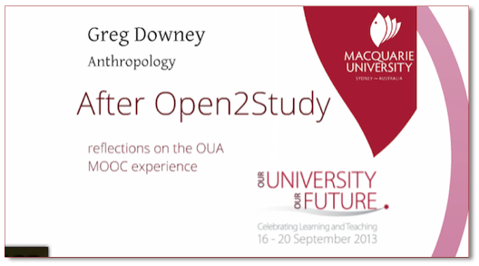 After Open2Study | Greg Downey